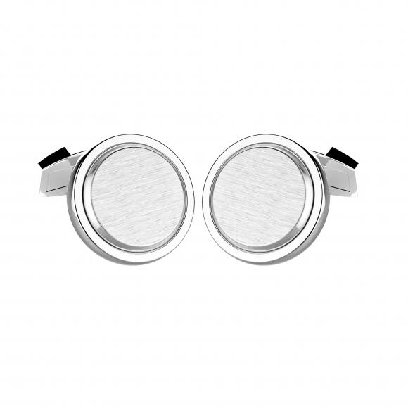 Ferma polsi Zancan in argento con base a cerchio satinato