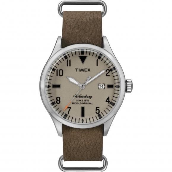 Orologio Timex solo tempo con cinturino in pelle tortora