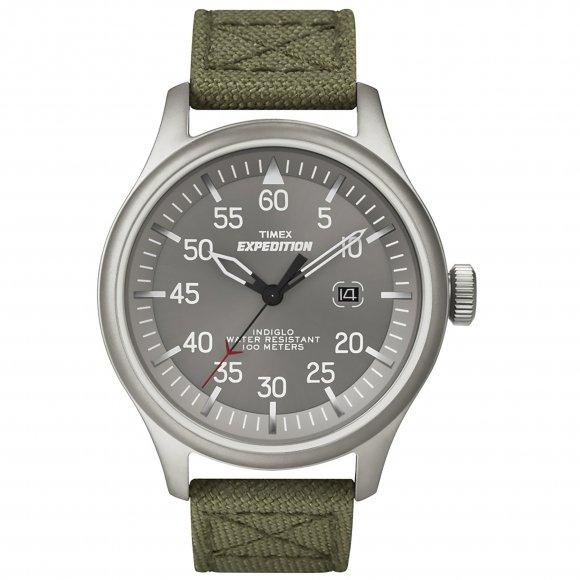 Orologio Timex con cassa in acciaio opaco e cinturino in pelle