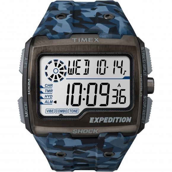 Orologio Timex  digitale con cinturino fantasia militare blu