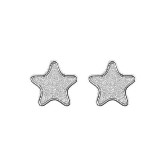 Orecchini Boccadamo in bronzo a forma di stella glitter