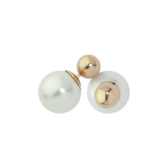 Orecchini Boccadamo con doppia perla bicolor