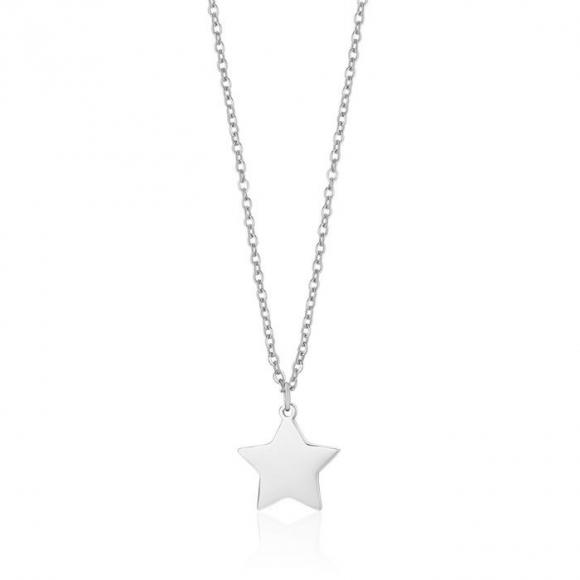 Collana Luca Barra in acciaio con ciondolo a stella