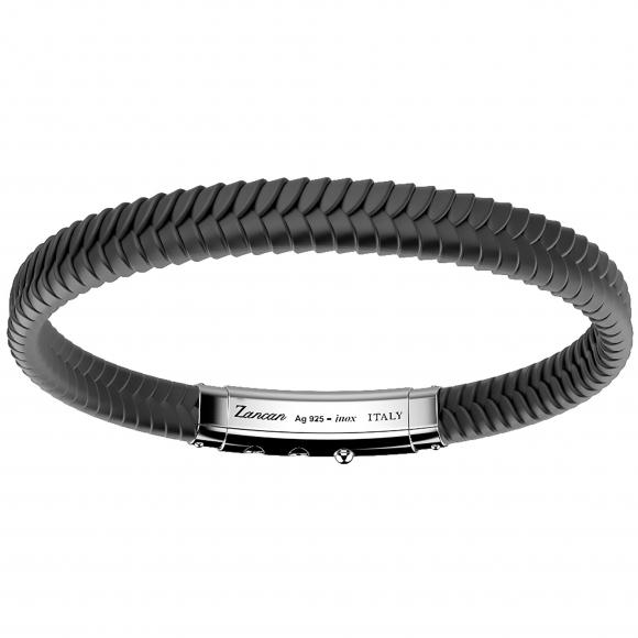 Bracciale Zancan in silicone intrecciato grigio scuro