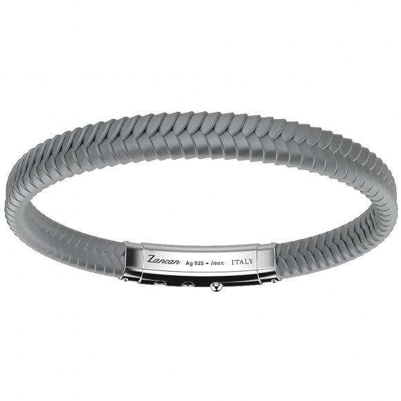 Bracciale Zancan in silicone intrecciato grigio