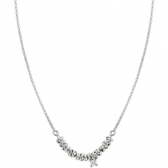 Collana Nomination in argento con nodi e punto luce pendente
