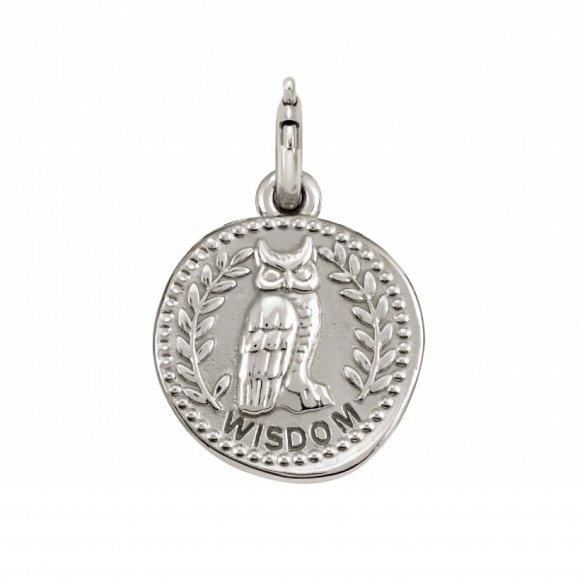 Charm Nomination in argento 925 ''Saggezza'' con gufo
