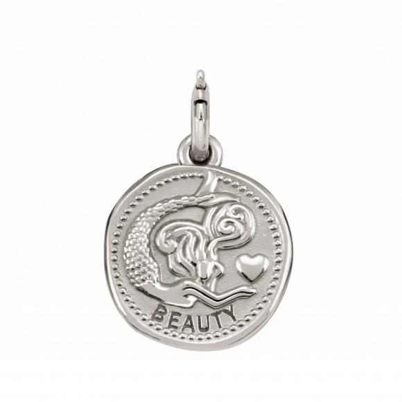 Charm Nomination in argento 925 ''Beauty'' con sirena in rilievo