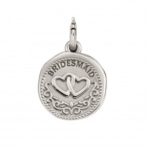 Charm Nomination in argento 925 ''Bridesmaid''