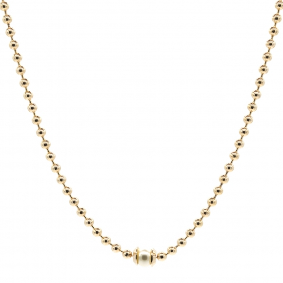 Collana Rebecca girocollo rosato con perla bianca centrale