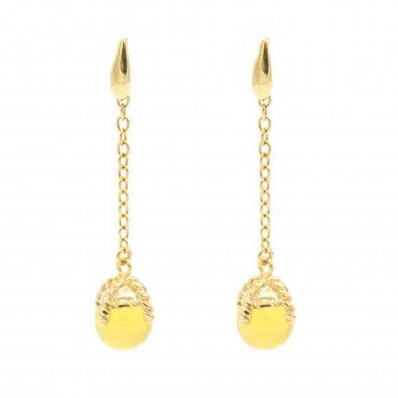 Orecchini Labriola pendenti con pietra giallo citrino