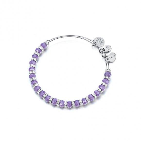 Bracciale Kulto con cristalli viola sfaccettati
