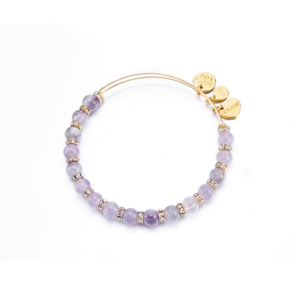 Bracciale Kulto con sfere in pietra viola