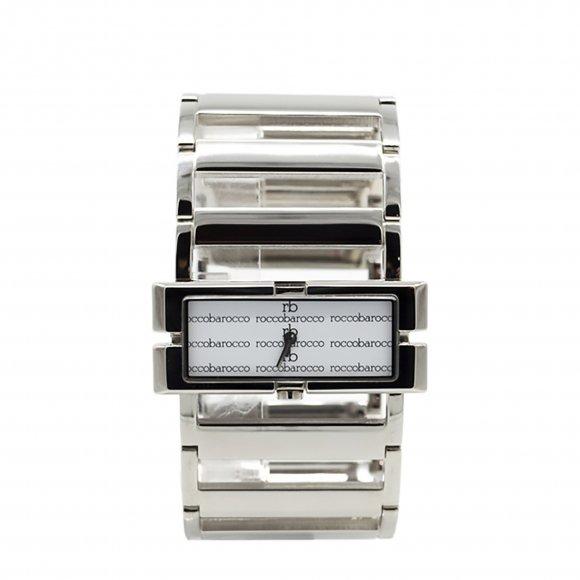 Orologio Roccobarocco modello bracciale con cassa e maglia rettangolare