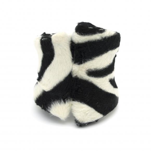 Bracciale Re Carlo Accessori Moda rigido con pelliccia zebrata