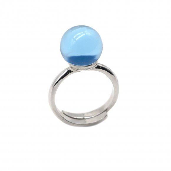 Anello Labriola con pietra blu ceylon