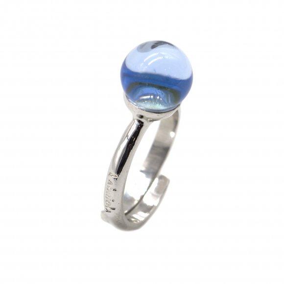 Anello Labriola con pietra azzurra acquamarina