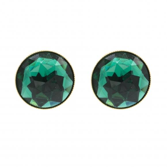 Orecchini Re Carlo Accessori Moda a lobo con pietra verde smeraldo