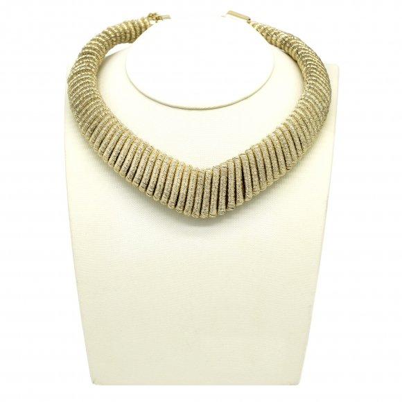 Collana Re Carlo Accesssori Moda a girocollo rigido dorato