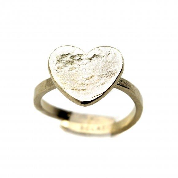 Anello Eclat in argento regolabile con cuore