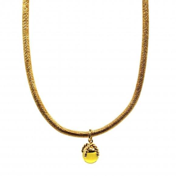 Collana Labriola girocollo a molla con pietra giallo citrino