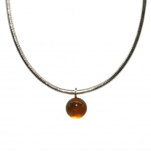 Collana Labriola a girocollo semi rigido con pietra giallo citrino