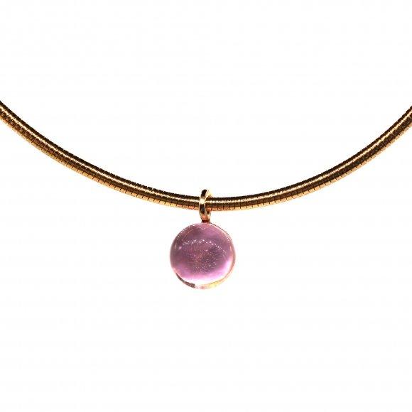 Collana Labriola a girocollo con quarzo rosa