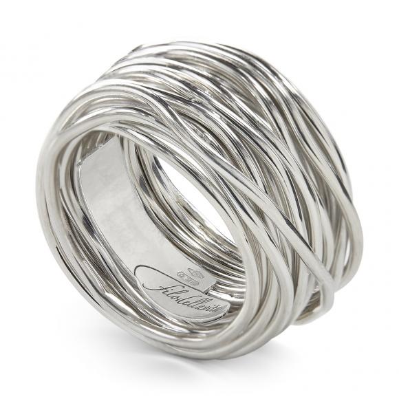 Anello Filo della Vita rock 22 fili in argento 950