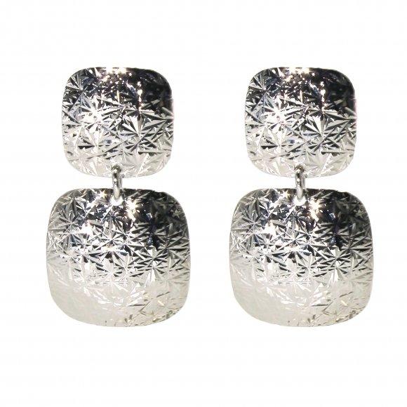 Orecchini Rebecca pendenti con quadrati effetto diamantato