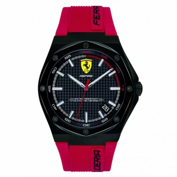 Orologio Ferrari in caucciù rosso cofanetto special edition