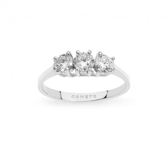 Anello Comete trilogy in oro bianco con diamanti