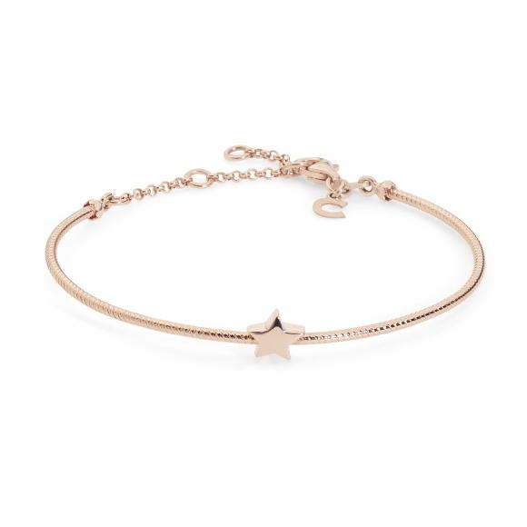 Bracciale Comete rigido in argento rosato con stella