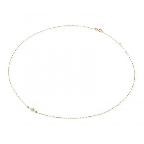Collana Ambrosia in oro giallo con perla centrale