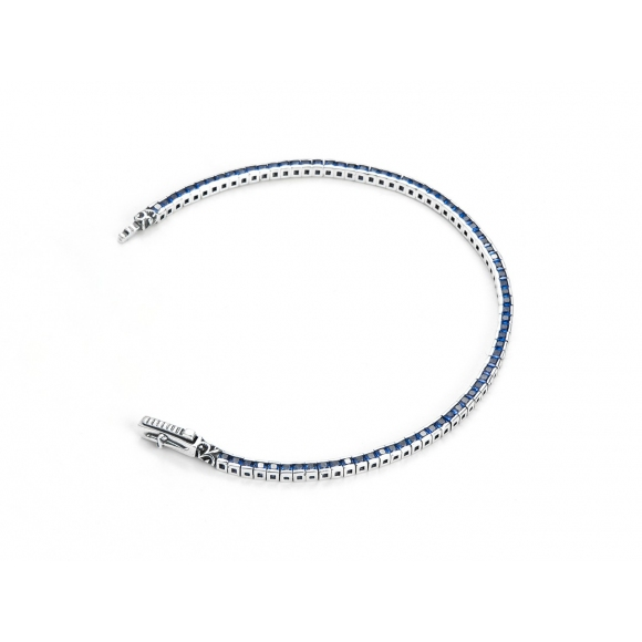 Bracciale Cesare Paciotti modello tennis con zirconi blu