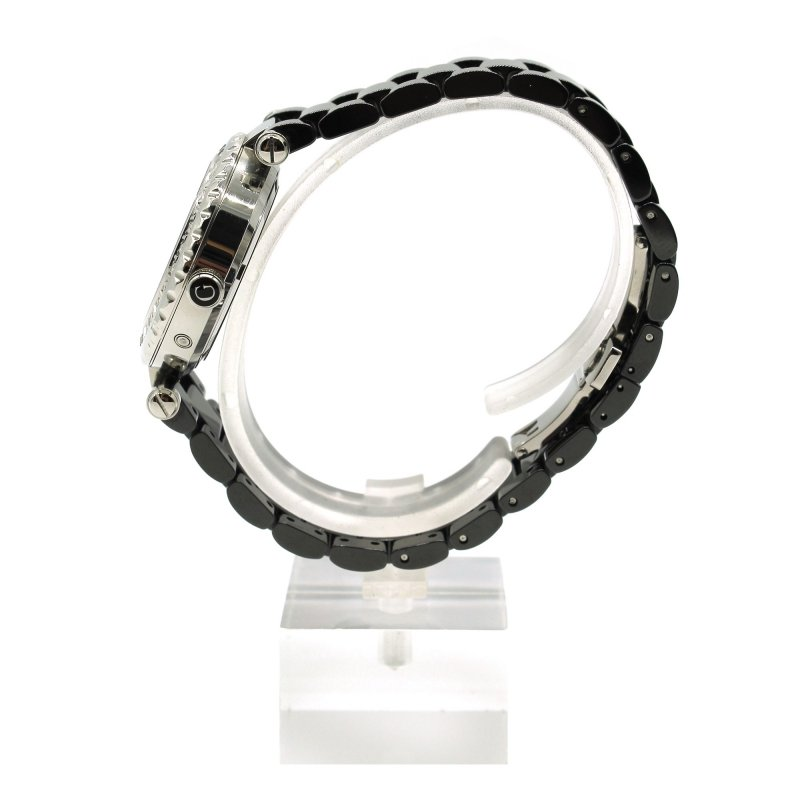Orologio Gc collection con cinturino in ceramica nera e quadrante madreperla e diamanti