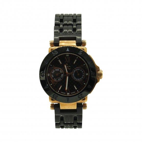 Orologio Gc collection con cinturino in ceramica nera e quadrante rotondo