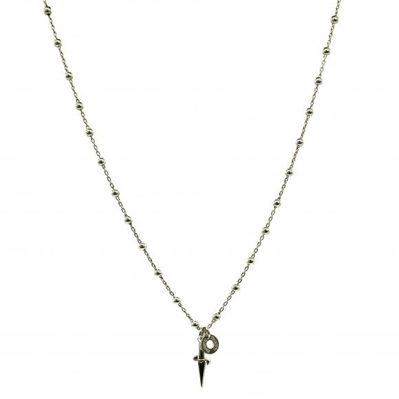 Collana Cesare Paciotti 4US a girocollo modello rosario con spadino