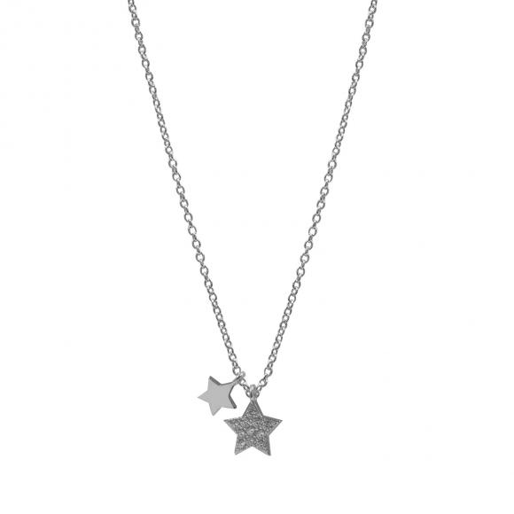 Collana Fogi in argento con stella pavè di zirconi bianchi