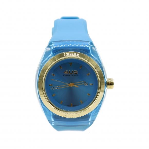 Orologio Cesare Paciotti 4Us con cinturino in caucciù azzurro