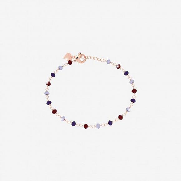 Bracciale Rebecca in argento rosè con pietre naturali sfaccettate
