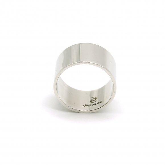 Anello Eclat a fascia alta 11mm in argento lucido