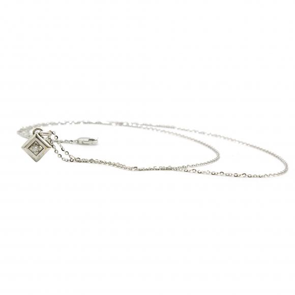 Collana uomo Zancan in oro bianco con diamante