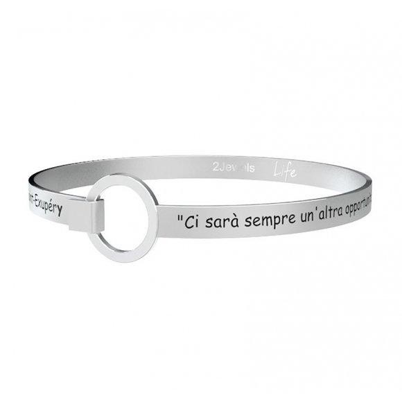 Bracciale Kidult in acciaio con frase di Antoine de saint-exupèry
