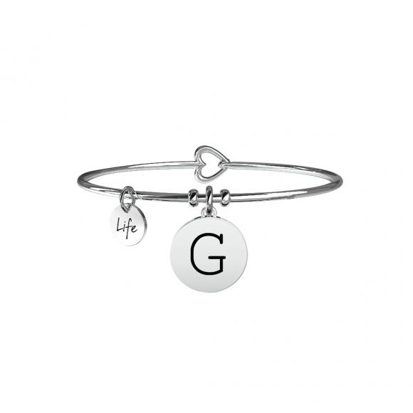 Bracciale Kidult in acciaio con pendente lettera G