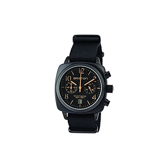 Orologio Uomo Briston Clubmaster Classic Acetato - Cronografo nero opaco
