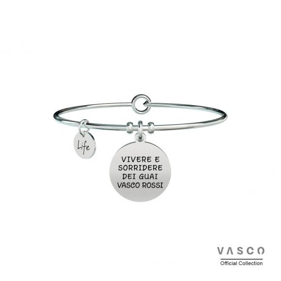 Bracciale Kidult Vasco Rossi in acciaio - Vivere