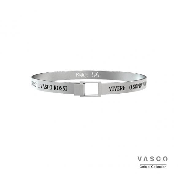 Bracciale Kidult Vasco Rossi in acciaio rigido - Vivere