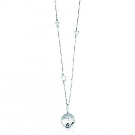 Chiama angeli Roberto Giannotti con pendente metà argento e metà con zirconi
