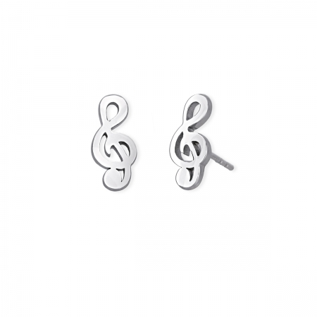 Orecchini 2jewels in acciaio a forma di nota musicale
