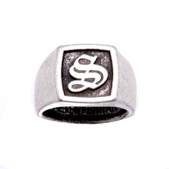 Anello pietro ferrante con iniziale ''S''